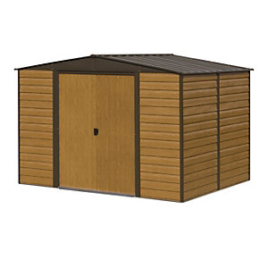 Rowlinson Metal Apex Shed W/O floor 10x12