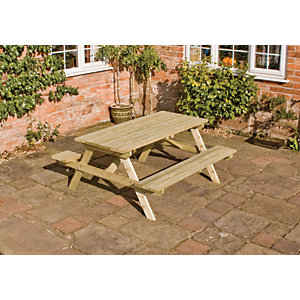 Rowlinson Wooden Picnic Table 1.5 x 1.5m