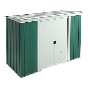 Rowlinson Metal Pent Shed with Floor 8x4