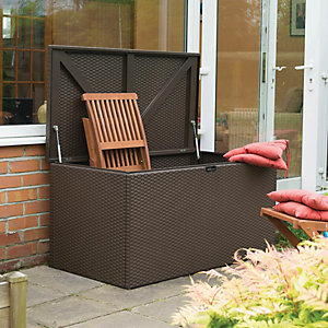 Rowlinson Rattan Effect Metal Deck Box