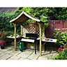 Rowlinson Party Arbour 1.29x2.4x1.81m Natural