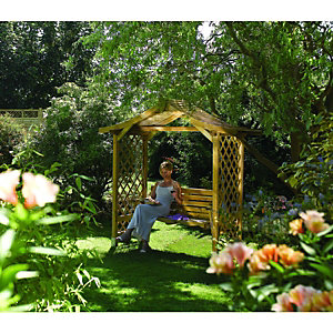 Rowlinson Dartmouth Swing Arbour 1.09x2.33x2.24m Natural
