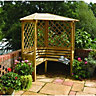 Rowlinson Balmoral Arbour 1.58x2.1x1.58m Natural