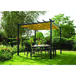 Rowlinson Latina Retractable Canopy 2.3 x 3.0 x 3.0m Grey