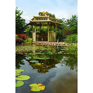 Rowlinson Oriental Pagoda 6 Sided 3.3 x 4.0 x 3.2m Natural