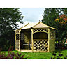 Rowlinson Sandringham Gazebo 8 Sided 2.7x3.9x3.0m Natural