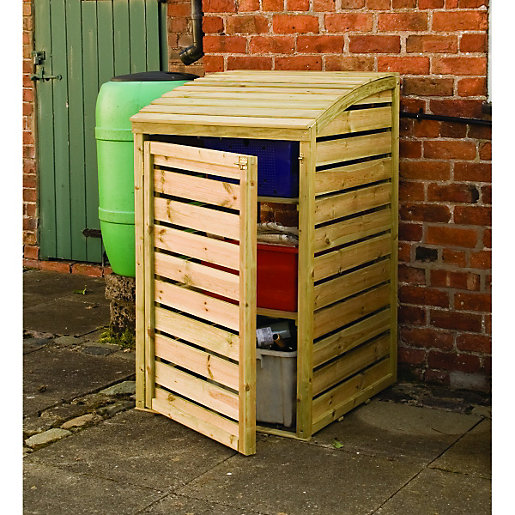 Woodworking plans outdoor storage box excellent yellow for Yellow wood plans