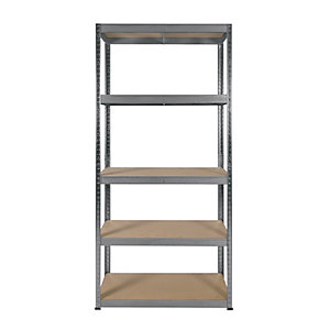 Rb Boss 5 Tier Wood Shelving Kit 1800 x 900 x 300 250kg Udl