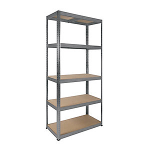 Rb Boss 5 Tier Wood Shelving Kit 1800 x 900 x 400 250kg Udl