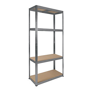 Rb Boss 4 Tier Wood Shelving Kit 1800 x 900 x 400 300kg Udl