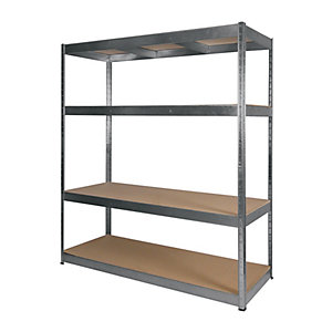 Rb Boss 4 Tier Wood Shelving Kit 1800 x 1600 x 600 300kg Udl