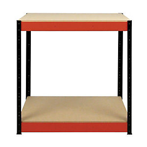 Rb Boss 2 Tier Wood Shelves Workbench 900 x 900 x 400 300kg Udl