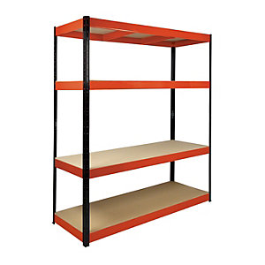 Rb Boss 4 Tier Wood Shelving Kit 1800 x 1600 x 600 500kg Udl