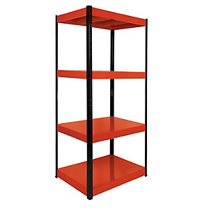Rb Boss 4 Tier Metal Shelving Kit 1800 x 900 x 600 400kg Udl