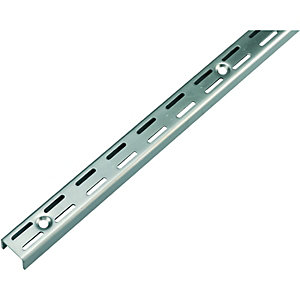 Wickes Twin Slot Upright Bracket Steel 450mm
