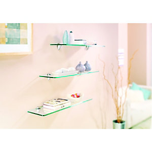 Wickes Shelf Glass 8x150x600mm