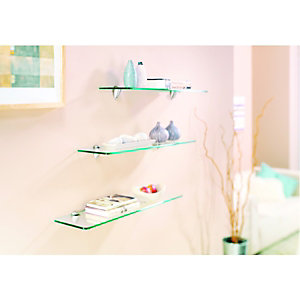 Wickes Shelf Glass 8x200x800mm
