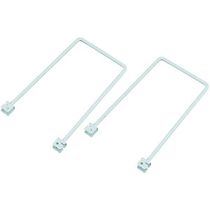 Wickes Twin Slot Flex Bookends 200mm 2 Pack