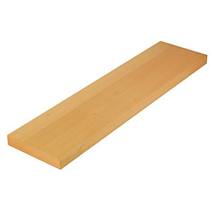 Wickes Floating Shelf Beech 38x230x900mm