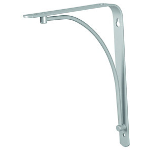 Wickes Decorative Bracket Silver Effect 230mm