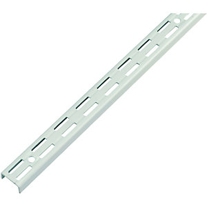 Wickes Twin Slot Upright Bracket White 1400mm