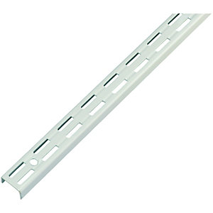 Wickes Twin Slot Upright Bracket White 2060mm