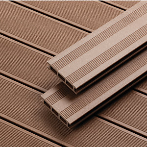 Wickes 2.4m Brown Composite Decking Kit Pack 5