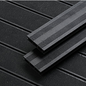 Wickes 2.4m Black Composite Decking Kit Pack 5