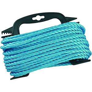 Wickes Blue 6mm Multi-purpose Polypropylene Rope Length 20m
