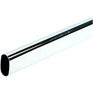 Wickes Multi Rail Oval Tube Chrome 30x15x2438mm