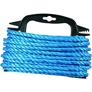 Wickes Blue 8mm Multi-purpose Polypropylene Rope Length 15m