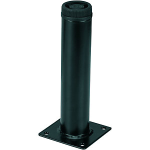 Wickes Round Furniture Leg Black 32x150mm