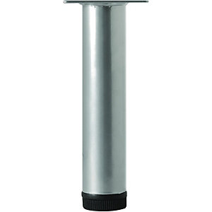 Wickes Round Furniture Leg Grey 32x200mm
