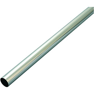 Wickes Multi Rail Tube Chrome 25mmx2.44m