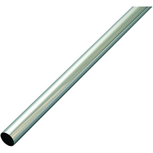 Wickes Multi Rail Tube Chrome 19mmx1.82m