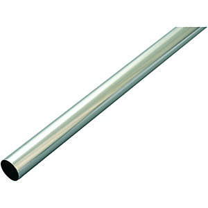 Wickes Multi Rail Tube Chrome 25mmx1.21m