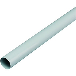 Wickes Multi Rail Tube 25mmx1.21m White