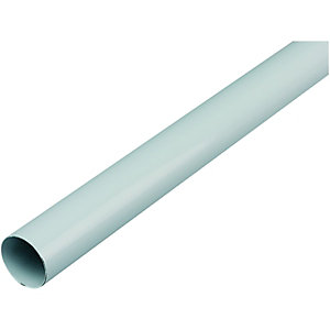 Wickes Multi Rail Tube 25mmx2.44m White