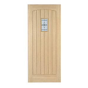 External Croft Oak Double Glazed Leaded Door 2032mm x 813mm x 44mm