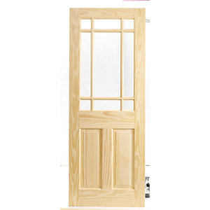 Wickes Truro Internal Softwood Door Pine Glazed 1981 x 838mm