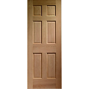 Wickes Colonial External Oak Veneer Door 6 Panel 2032x813mm