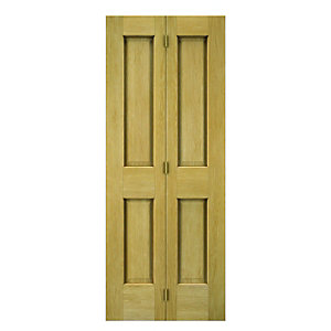 Wickes Cobham Internal Bi-fold Door Oak Veneer 4 Panel 1981 x 762mm
