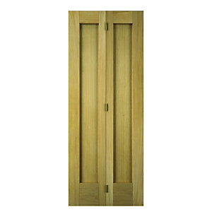 Wickes Oxford Internal Bi-fold Door Oak Veneer 2 Panel 1981x762mm