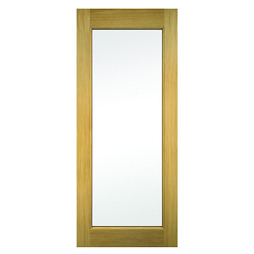 Wickes oxford external oak veneer door glazed 1981x838mm for Door viewer wickes