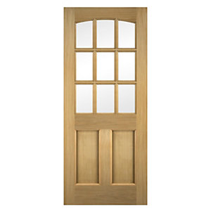 Georgia Oak Veneer Glazed Exterior Door 1981mm x 838mm x 45mm