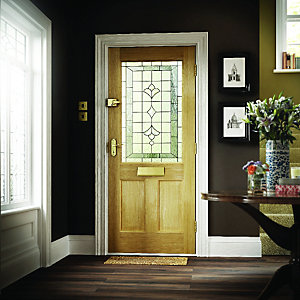 Avon Oak Veneer Glazed External Door 1981mm x 762mm x 45mm