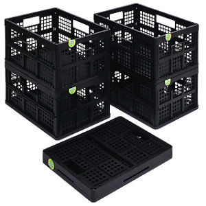 Really Useful Folding Box/Crate Black 32L