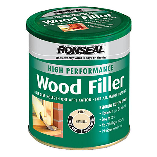 Ronseal high performance wood filler natural 1kg for Exterior wood filler paintable