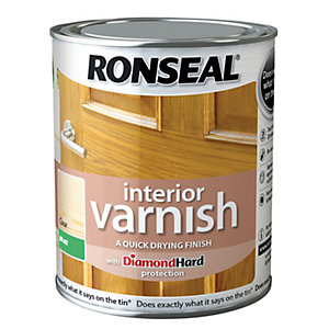 Ronseal Interior Varnish Matt Clear 750ml Wickes Co Uk