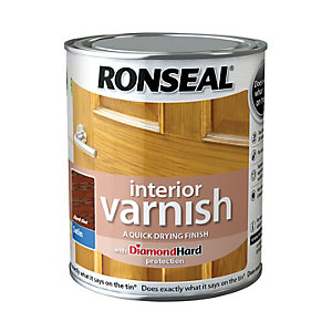 Ronseal Interior Varnish Satin Dark Oak 750ml